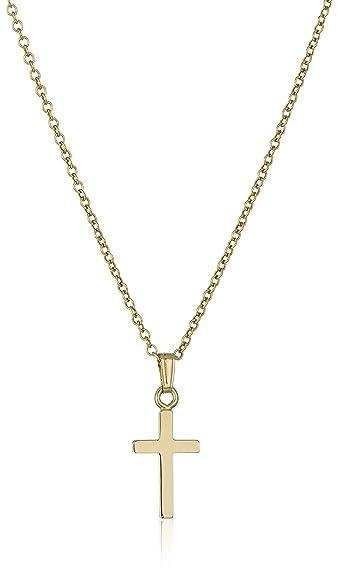 Amazon childrens 14k gold filled polished cross pendant childrens 14k gold filled polished cross pendant necklace aloadofball Choice Image