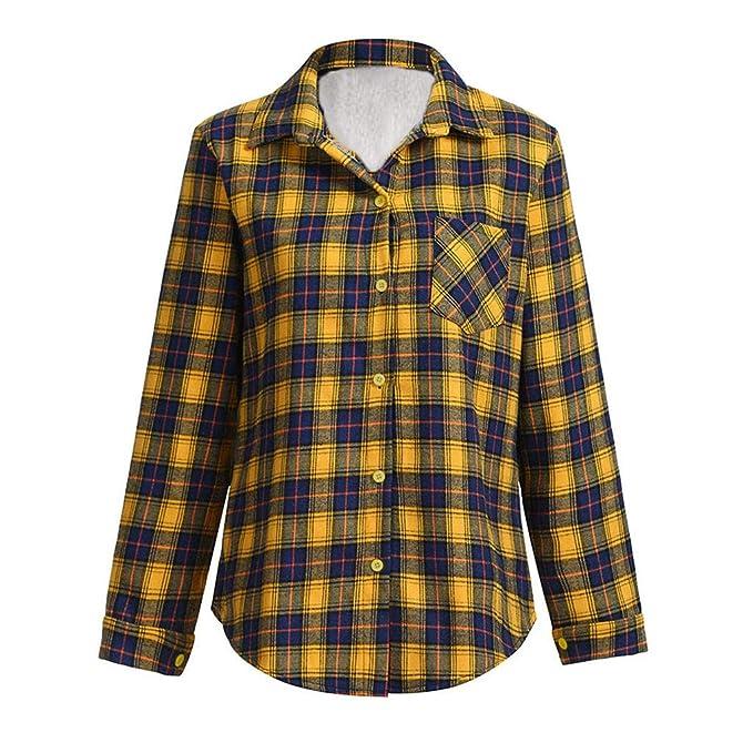Mujer Camiseta con Mangas Largas Cuello V Camisa Botón Blusa Jumper Pullover Sudadera Remata T-Shirt: Amazon.es: Ropa y accesorios