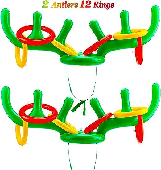 Amazon.com: Konsait - Juego de 2 anillos de reno para ...