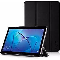 EasyAcc Hülle für Huawei Mediapad T3 10 Hülle, Ultra Schlank Schutzhülle Case mit Zwei Einstellbarem Standfunktion Für Huawei MediaPad T3 10 (9,6 Zoll), Schwarz
