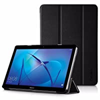 EasyAcc Huawei MediaPad T3 10 Custodia Cover Ultra Sottile Smart Cover Case in Pelle per il Huawei MediaPad T3 10 Tablet - Nero