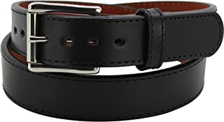 product image for Steel Core Gun Belt - Reinforced Leather Gun Belts for Concealed Carry - Black