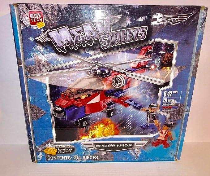 Block Tech Mean Streets Juego de Bloques de construcción de Rescate Explosivo 211 Piezas: Amazon.es: Juguetes y juegos