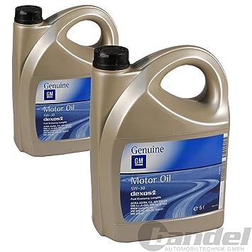 Aceite Motor Original - Opel dexos 2 5W-30, Pack 10 litros: Amazon ...