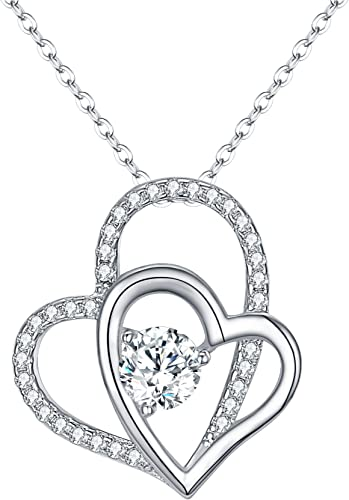 Sparkling Clear Heart Letter T 925 Sterling Silver Pendant .925 Fine Jewelry