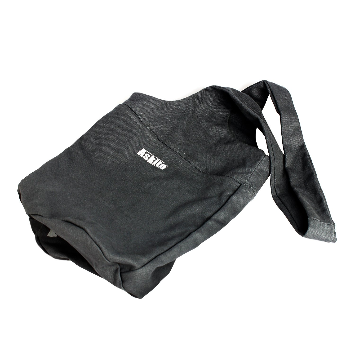 Yoga Mat Tote Sling Carrier w// Large Side Pocket /& Zipper Pocket Yoga Mat Bag by ASKITO Fits Most Size Mats