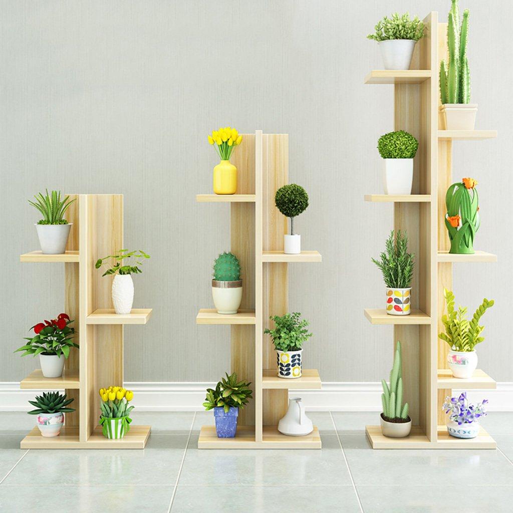 フラワースタンド 緑の大根の一階のアセンブリ花の棚多段の単純なリビングルームの固体木の花の棚屋内のバルコニーぶら下げ花瓶の鍋の棚 (色 : F f) B07FGD8MNC  F f