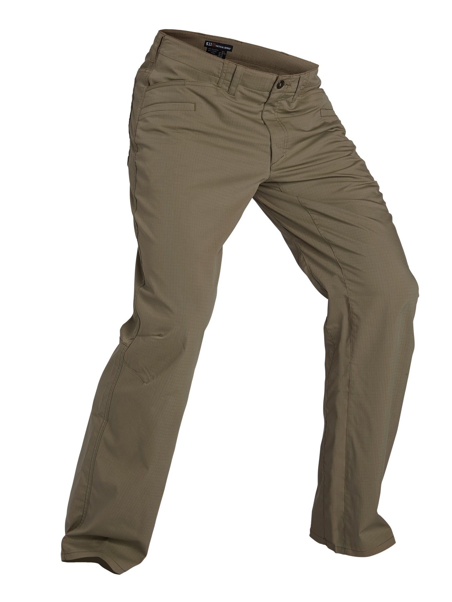 5.11 Tactical Men's Ridgeline Covert Pants, Teflon Finish, Poly-Cotton Ripstop Fabric, Stone, 38Wx32L, Style 74411 by 5.11