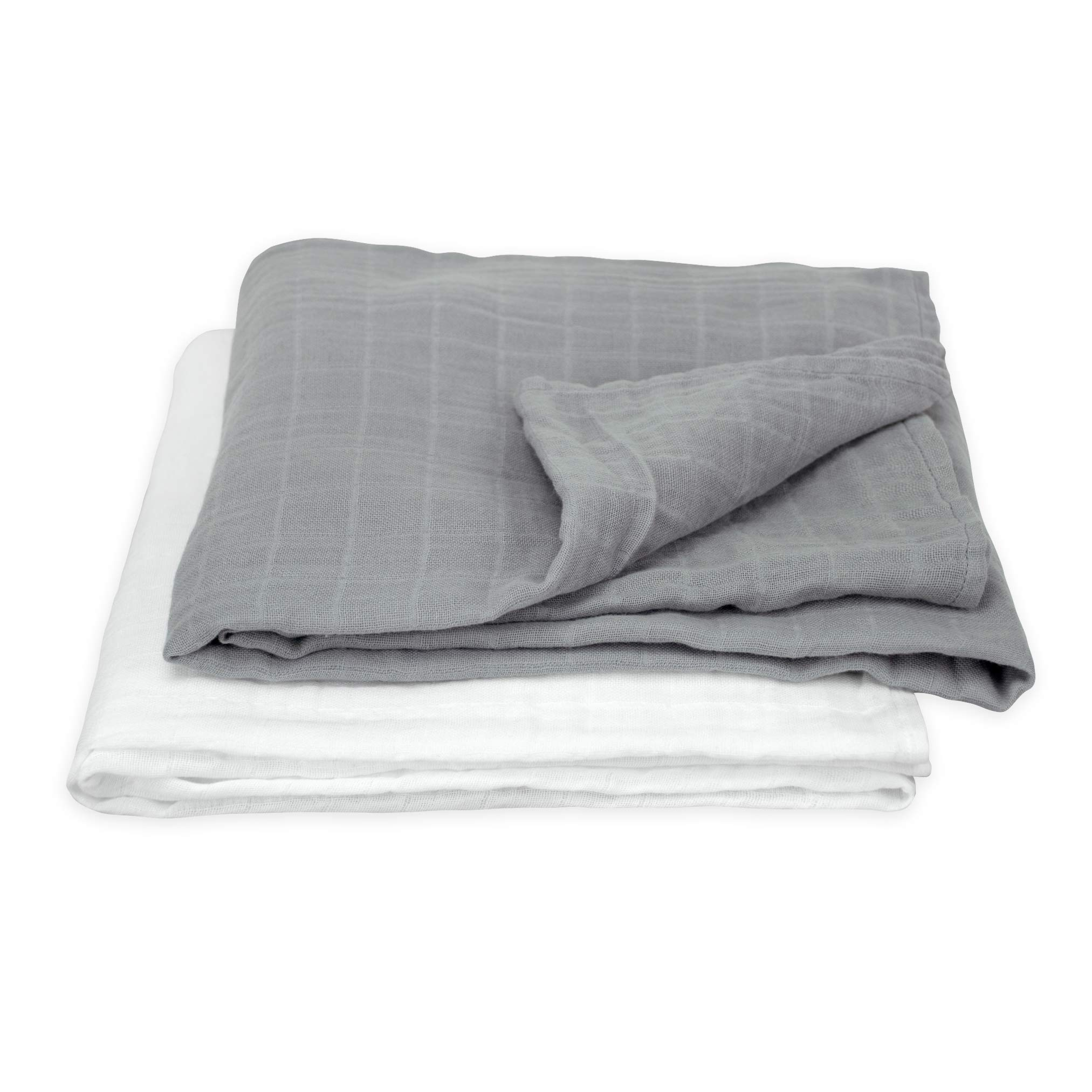 green sprouts Muslin Swaddle Blankets made from Organic Cotton (2 pk) | Generously sized