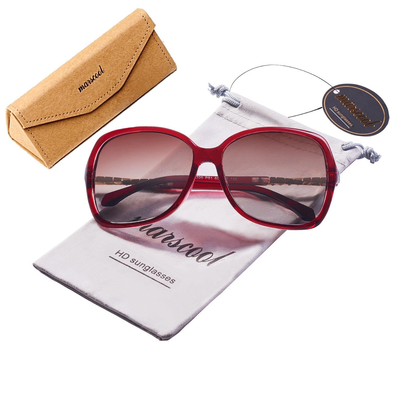 f1bc57dbc9 Fashion Vintage Large Square Frame Polarized Oversized Sunglasses for Women  UV Protection Square Sunglasses Case