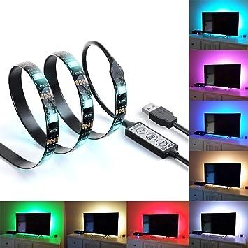 Bias Lighting TV retroiluminación para HDTV LED tiras luces LED ...