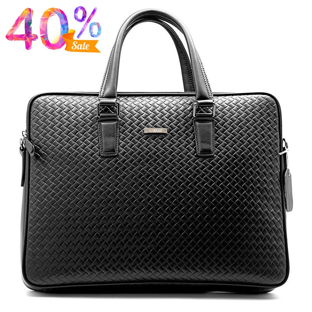 Herren Echtleder Business Aktentasche Laptop Messenger Schultertasche Büro Handtasche WIKISH 6605-6(WKS)