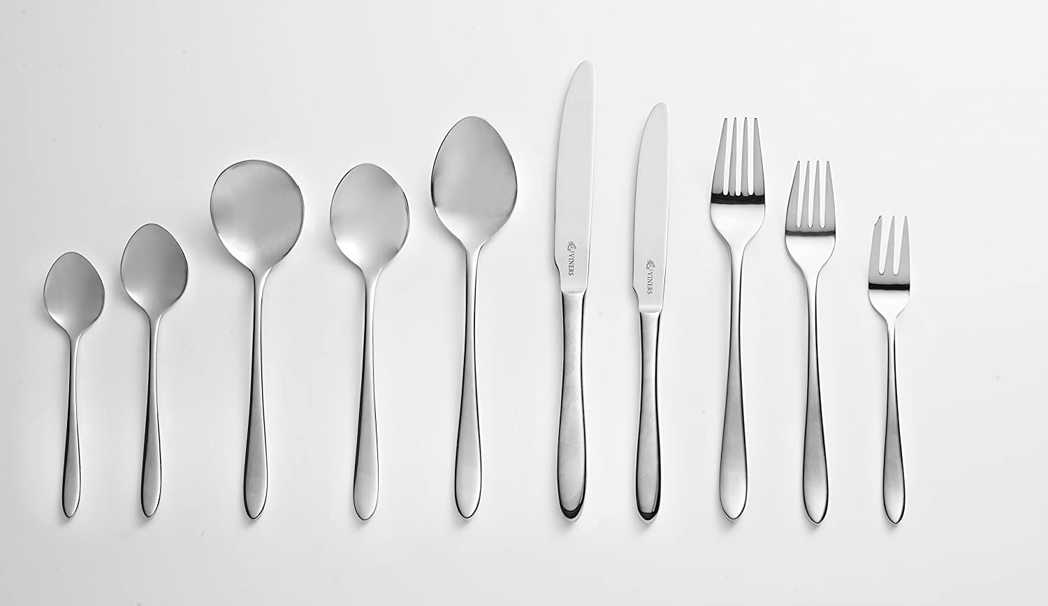 Viners Eden 44 Piece 18//10 Stainless Steel Cutlery Canteen Set in Gift Box Silver 54 x 9 x 32 cm