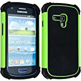 kwmobile Hybrid Case for Samsung Galaxy S3 Mini in green black. TPU Inner-case, Hardcase shield! Perfect for outdoor usage of your smartphone and topmodern
