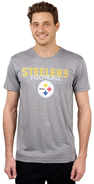 587eff0c Ultra Game NFL Pittsburgh Steelers Men's T-Shirt Athletic Quick Dry Active  Tee Shirt, X-Large, Gray