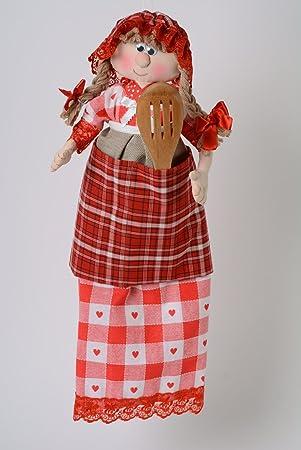 Muneca guarda bolsas hecha a mano de tela de punto y algodon ...