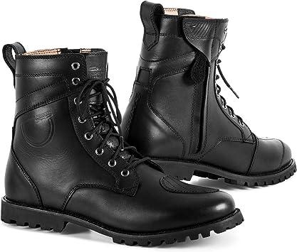Vintage HARLEY DAVIDSON Black Leather Biker Boots Combat Style Moto Lace Up Cap Toe MENS 11 D
