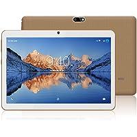 Tablets 10.1 Pulgadas Android 9.0 YOTOPT, Quad Core, 4GB de RAM, 48 GB de Memoria Interna, 3G Tablet, Dual SIM, WiFi/ Bluetooth/GPS/OTG - Oro