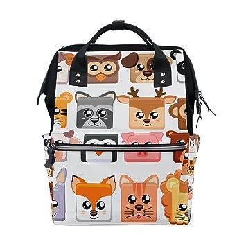 JSTEL - Bolsas de viaje para ordenador portátil, diseño de animales de dibujos animados y emoji: Amazon.es: Electrónica