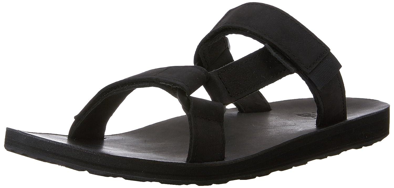 Teva Men's Universal Slide Leather Sandal B00ZFMYKX6 7 D(M) US|Black