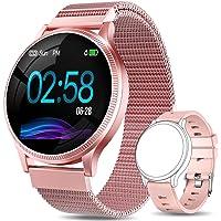 AIMIUVEI Smartwatch Mujer, Reloj Inteligente Mujer con Pulsómetro, Impermeable IP67, Presión Arterial, Monitor de Sueño…