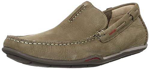 Clarks Rengo Rumba 203566017 - Mocasines de cuero para hombre, color beige, talla 42.5: Amazon.es: Zapatos y complementos