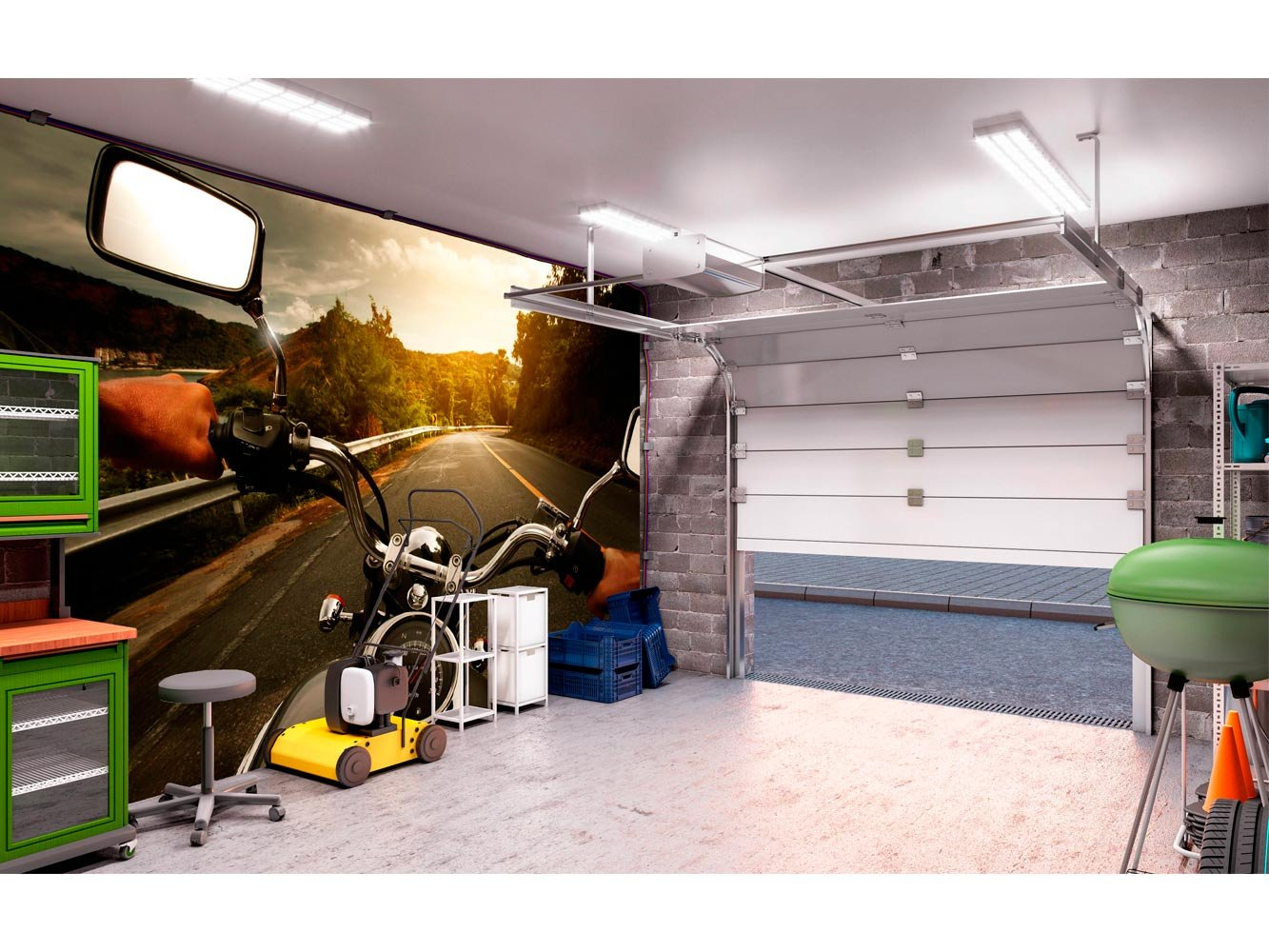 Fotomural para paredes salones Papel Pintado Para Pared Moto Paisaje Carretera Decoraci/ón comedores Varias Medidas 100 x 70 cm Mural habitaciones. Papel Pintado