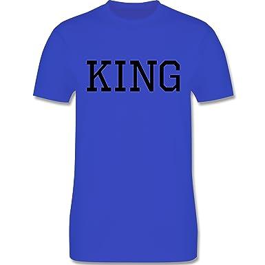 Partner-Look Pärchen Herren - King Schwarz - Herren T-Shirt Rundhals:  Shirtracer: Amazon.de: Bekleidung