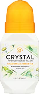 product image for Crystal Deodorant Essence Roll-On 2.25 Ounce Chamomile/Green Tea (66ml)