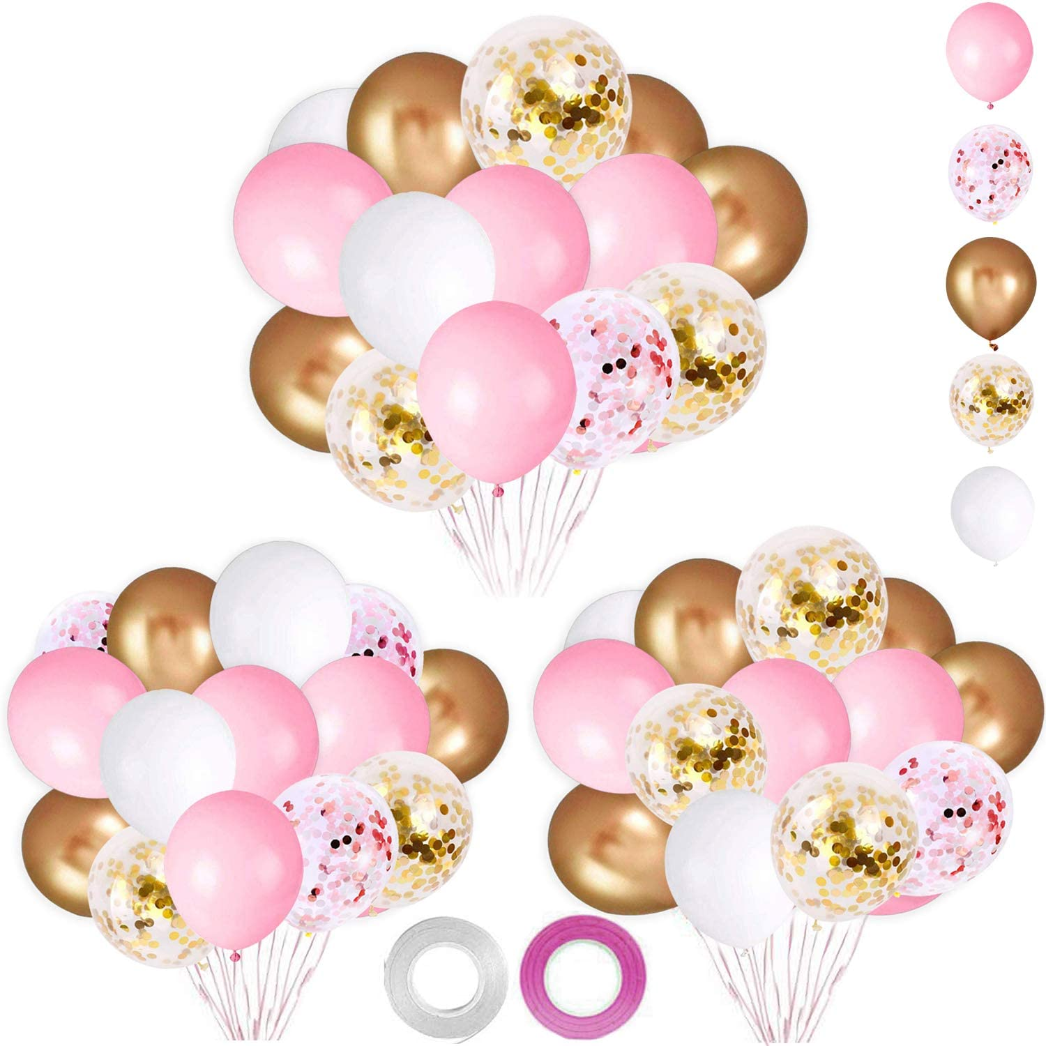 black party metallic balloons decorations 25 pack  30cm hens night baby shower