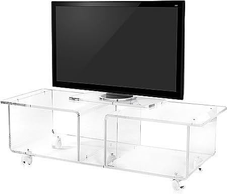 Iplex Design Mesa para Televisor Imago Double Transparente: Amazon ...