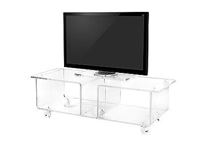 Iplex Design Imago Double Mobile Porta TV con Ruote, Plexiglass/PMMA ...