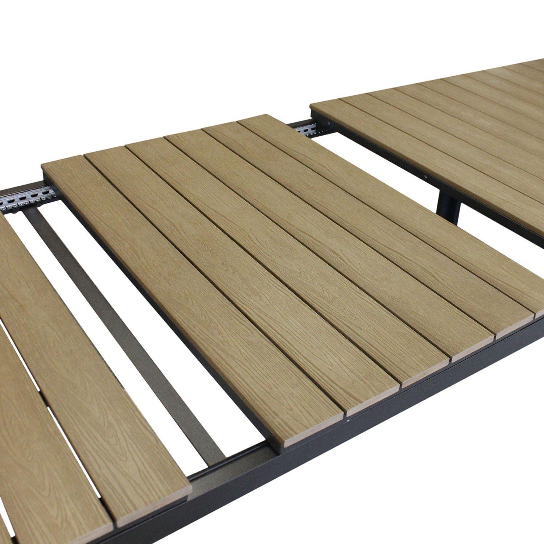 Gartentisch ausziehbar polywood  Amazon.de: Aluminium Gartentisch ausziehbar mit Polywood ...