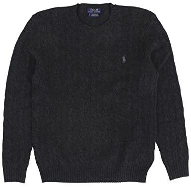 b70eec51a59 RALPH LAUREN Polo Men's Cable-Knit Cashmere Crewneck Sweater Small ...