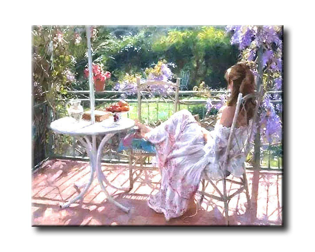 Paint by number Kits Shukqueen DIY dipinto a olio acrilico painting-cozy Afternoon 40,6/ x 50,8/ cm adulto Framed Canvas