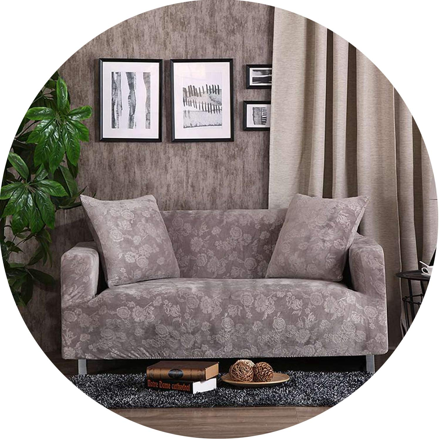 Sofa Cover for Living Room Sofa Cover Solid Color Anti-Dirty Slipcovers,010,Four Seat Cover