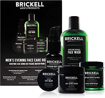 Brickell Productos para hombres Evening Face Care Routine II ...