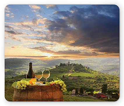 Amazon com : Winery Mouse Pad, Vineyard in Chianti Tuscany