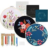 WOWOSS 3 Kits de Bordados con Motivos Florales