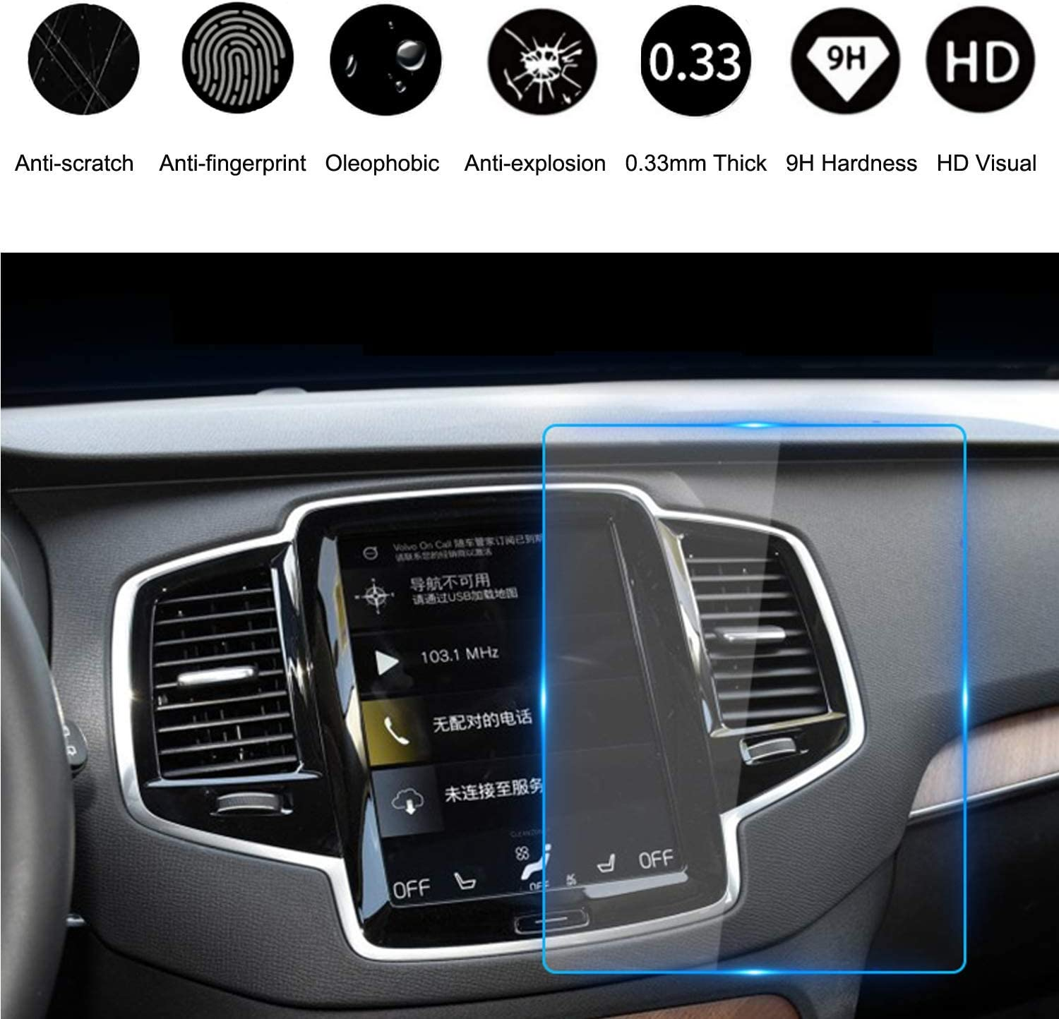 Premis Volvo Wireless Car Charger Fit for Volvo XC90 XC60