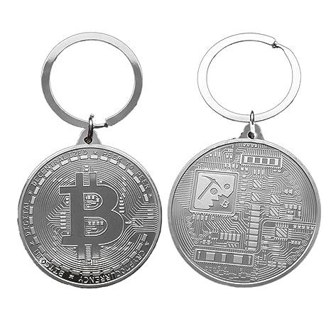 Lennonsi Llavero de Monedas de Bitcoin, Chapado en oro ...