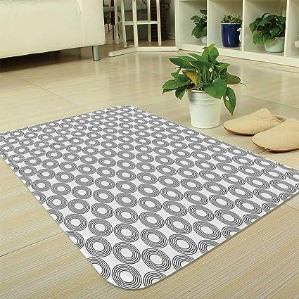 Amazon Com Tecbillion Short Fur Floor Mat Geometric