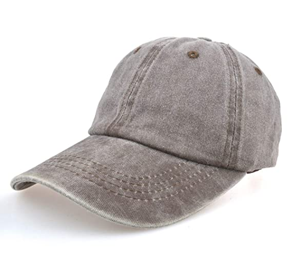 b71e02a7 OJSCOS Kids Plain Baseball Cap Sunhat Low Profile 100% Cotton (Brown)