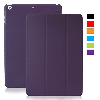 KHOMO Funda iPad Mini 1, 2, 3 - Carcasa Purpura Semi Transparente Ultra Delgada con Smart Cover para Apple iPad Mini, Mini 2 Retina, Mini 3 - Clear ...