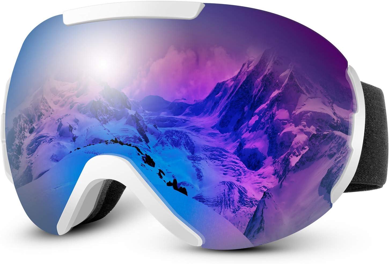 IREENUO OTG Ski Goggles Snowboard Goggles Anti Fog Snow Goggles for Men Women Youth,100 UV Protection