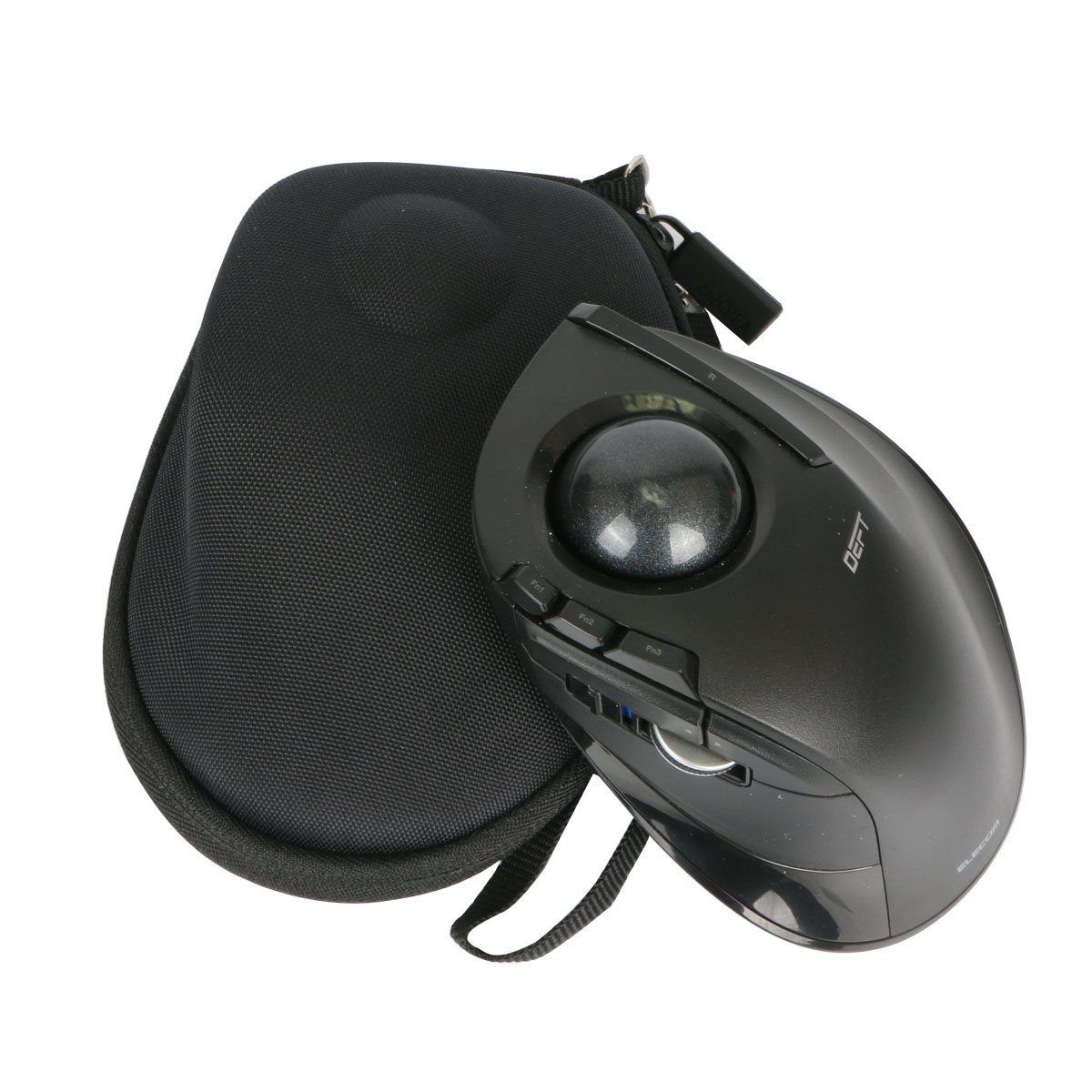 Hard Travel Case for ELECOM Wireless index finger Trackball mouse EX-G series M-DT2DRBK by co2CREA