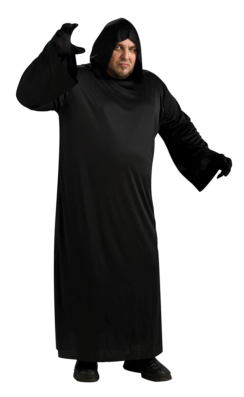 Rubie's Costume Black Hooded Robe Costume Rubie' s Black Hooded Robe Adult Full Figure Costume Rubies Costumes - Apparel 17148
