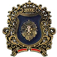 Ammvi Creations Royal Lion Alloy Multicolour Brooch Lapel Pin for Men