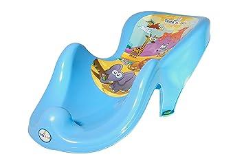 Safari Motiv Blau Anti-rutsch ab 0 Monate Tega Baby /® anatomischer Babybadesitz Badesitz f/ür Baby
