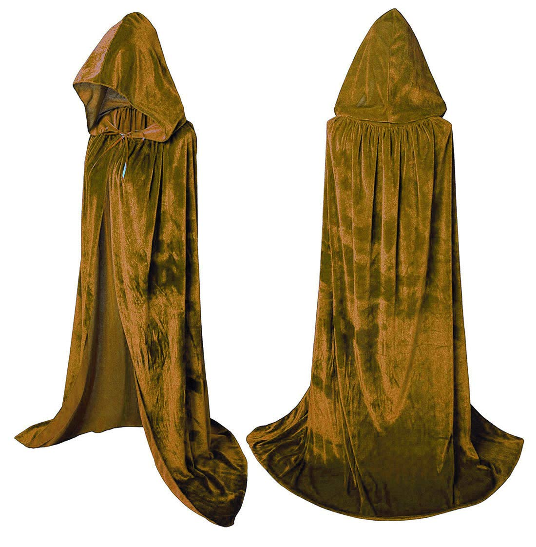 A Wine Red Flywife Womens Velvet Hooded Cloak Halloween Costumes Hooded Party Cape Medieval Cosplay Cape